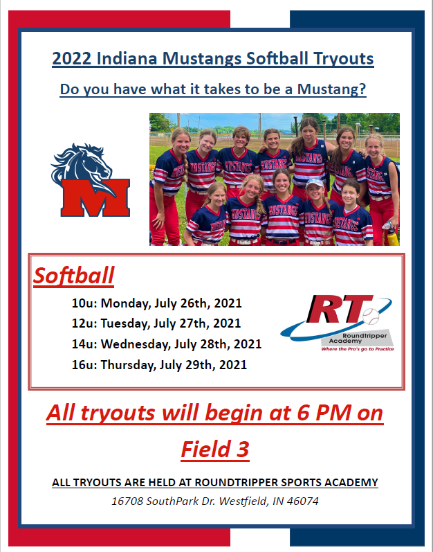 2022 Softball Tryout Flyer